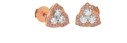 Leibish & Co. pink diamond studs
