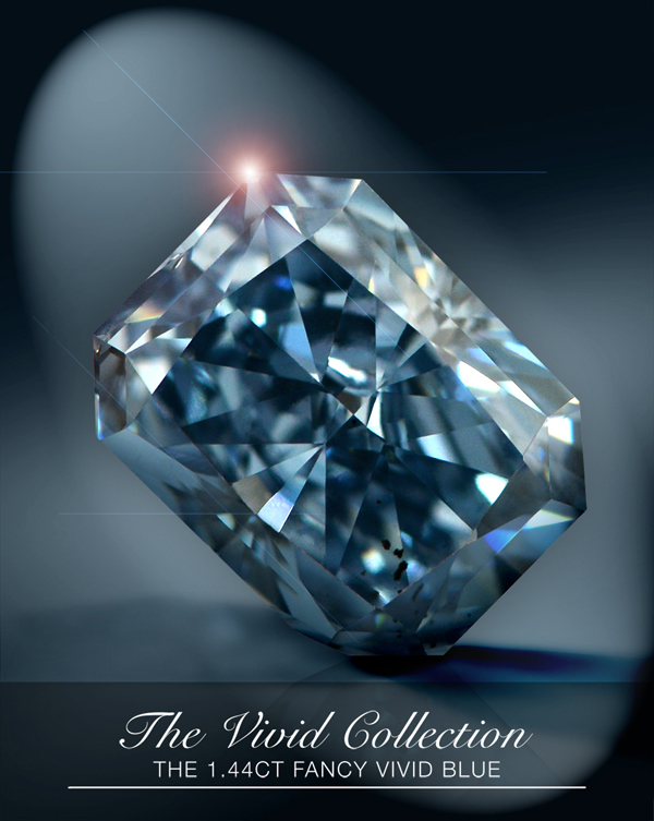 1.44-carat fancy-vivid blue diamond from Leibish & Co.