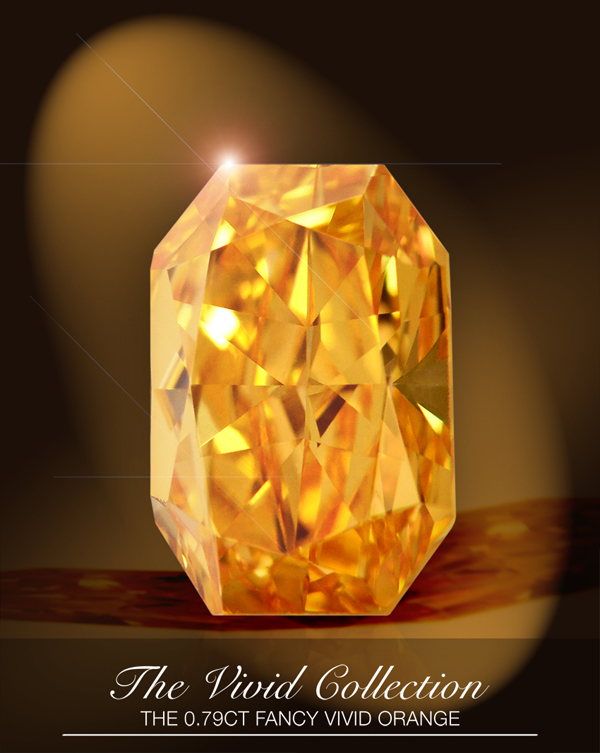 0.79-carat fancy-vivid orange diamond from Leibish & Co.