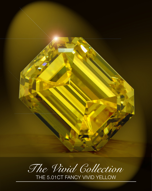 5.01-carat fancy-vivid yellow diamond from Leibish & Co.