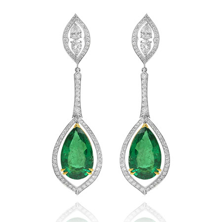 Leibish & Co. emerald earrings Cyber Sale