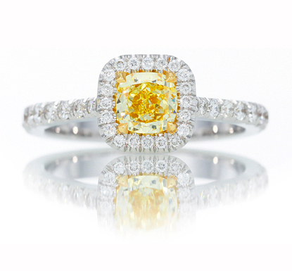 Leibish & Co. yellow diamond ring
