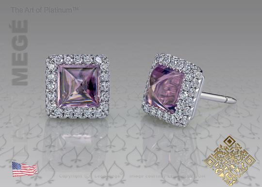 Leon Megé lavender spinel and diamond earrings