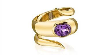 Lilac Spinel Wish Ring - in 18kt Yellow Gold at Ritani