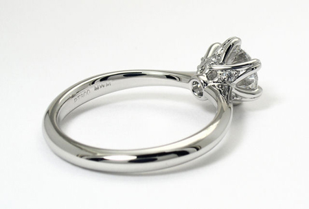 Mark Morrell Petite Torchiere Diamond Engagement Ring