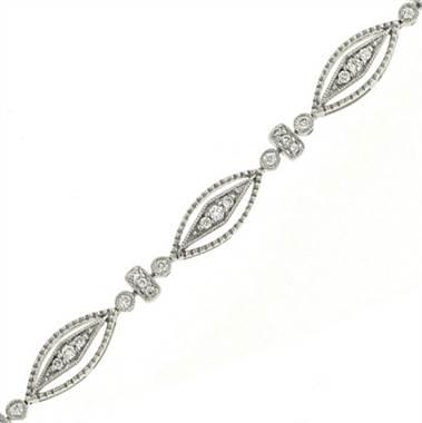 Maiden Lane B7770X050W4 Oval Fashion Link Diamond Bracelet by Solomon Brothers