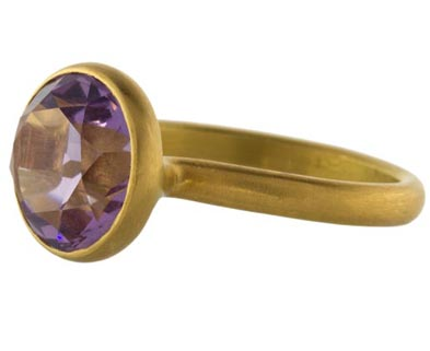 Marie-Helene de Taillac amethyst Princess ring