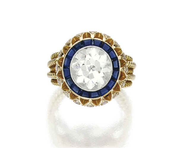 Mary-Kate Olsen's engagement ring via Sotheby's