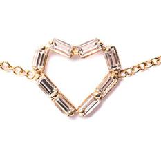 Diamond baguette heart bracelet from Matchstick