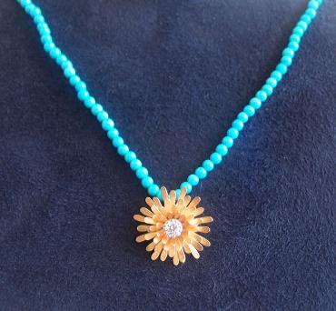 McTeigue & McClelland Dandelion Diamond Necklace