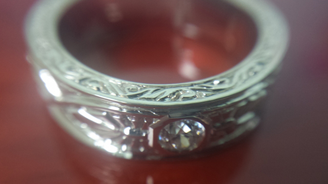 Men's Antique Inspired Diamond Band • Image by MT7799