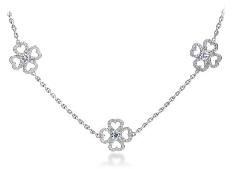 Michael B. Petal Gardenia 19 station necklace at Michael C. Fina