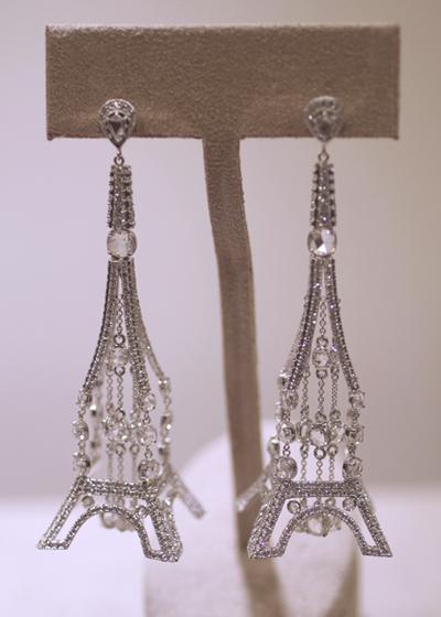 Michael John Image: Eiffel Tower earrings