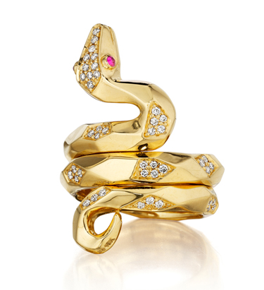 Couture Cleopatra Snake Ring • Mimi So