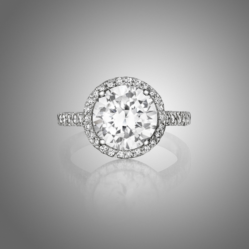 Mimi So Pave Diamond Halo Engagement Ring Setting