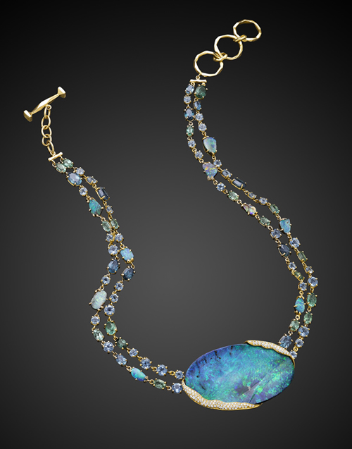 Mimi So ZoZo Boulder Opal Necklace
