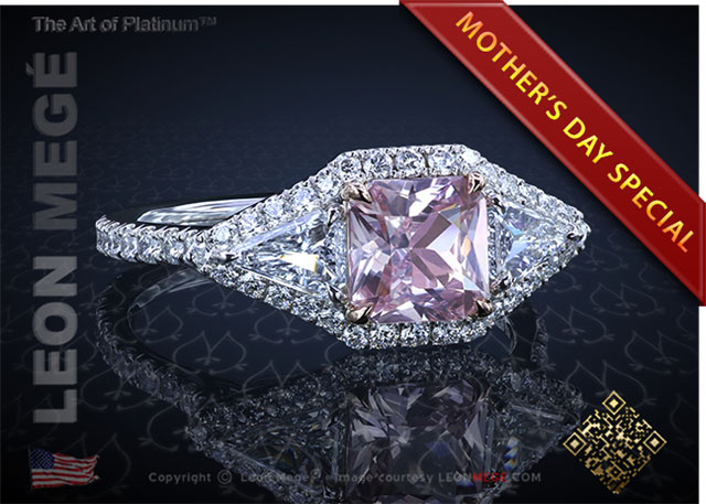 "1.24 Carat Montpassier Pink Sapphire ""Eye of the Passion"" Ring r6707 at Leon Megé"