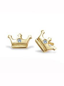 Mini crown diamond earrings by Alex Woo