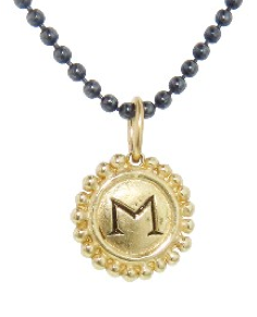 Initial charm necklace by Erica Molinari