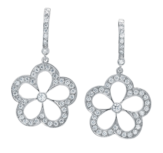 Gumuchian daisy diamond drop earrings