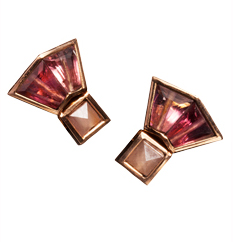 Tourmaline button studs by Nak Armstrong