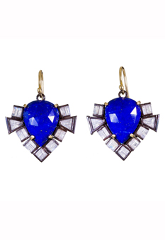 Nak Armstrong lapis and moonstone arrow earrings