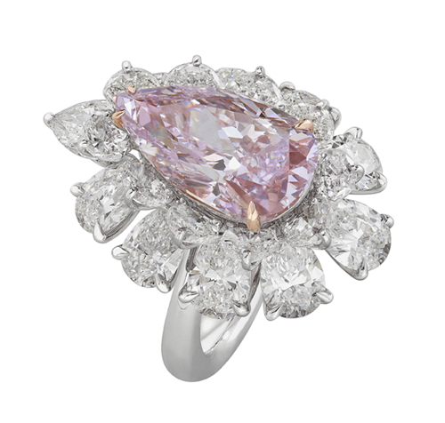 Nirav Modi's 5.67-carat pink diamond ring