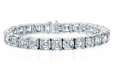 Norman Silverman asscher cut diamond bracelet worn by Katy Perry at the 2012 Grammy Awards