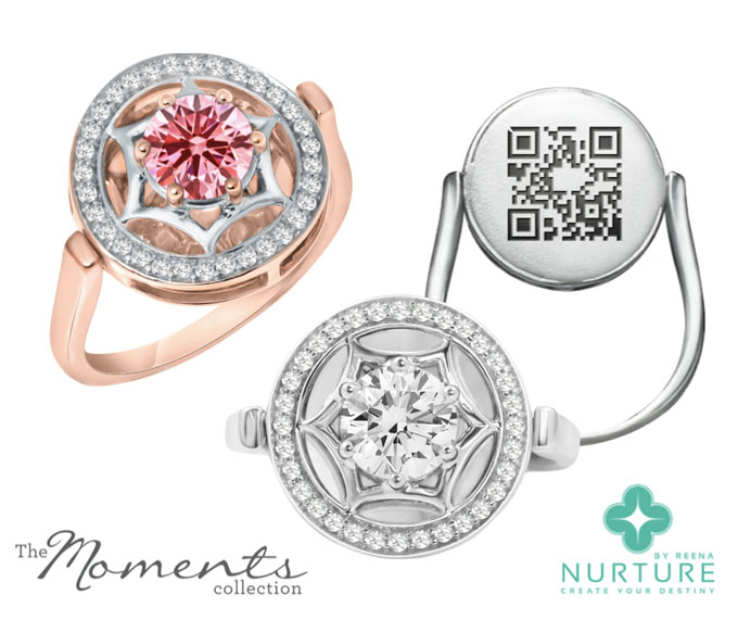 Nurture by Reena Moments Collection lab-grown pink diamond ring