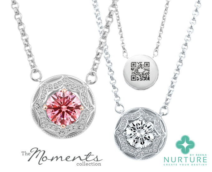 Nurture by Reena Moments Collection lab-grown diamond pendants