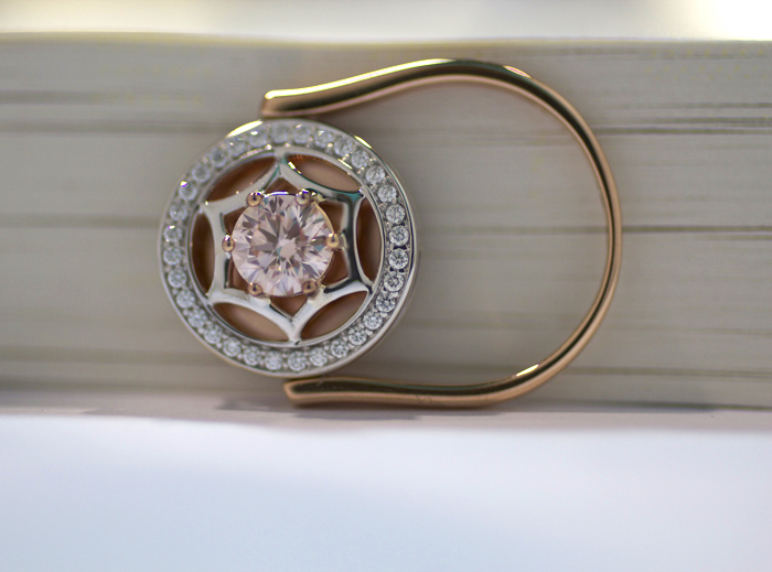 Nuture by Reena pink lab-grown diamond ring • Image Erika Winters