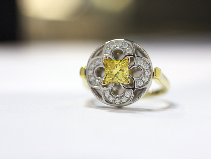 Nuture by Reena lab-grown yellow diamond ring • Image Erika Winters