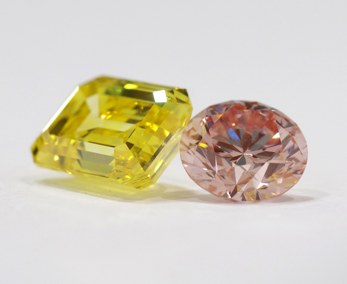 Nuture by Reena yellow and pink lab-grown diamonds • Image Erika Winters