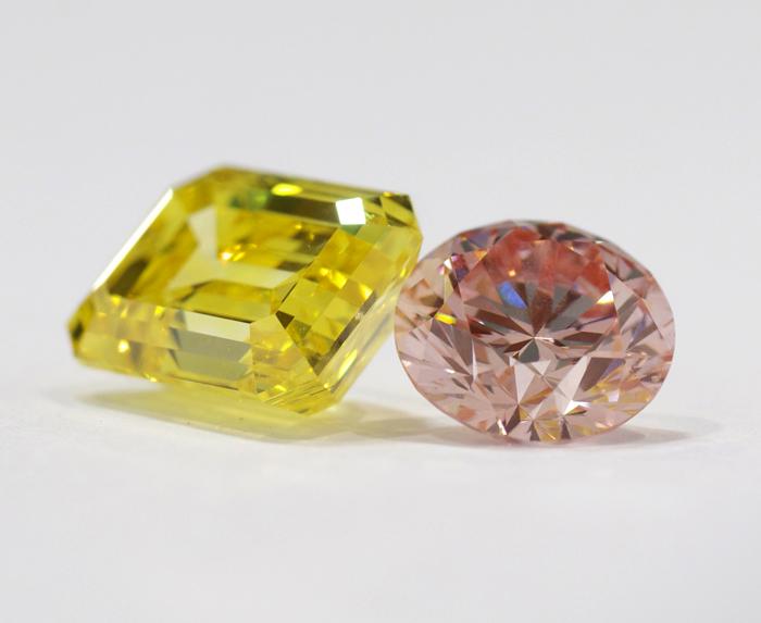 Nurture by Reena yellow and pink lab-grown diamonds • Image Erika Winters