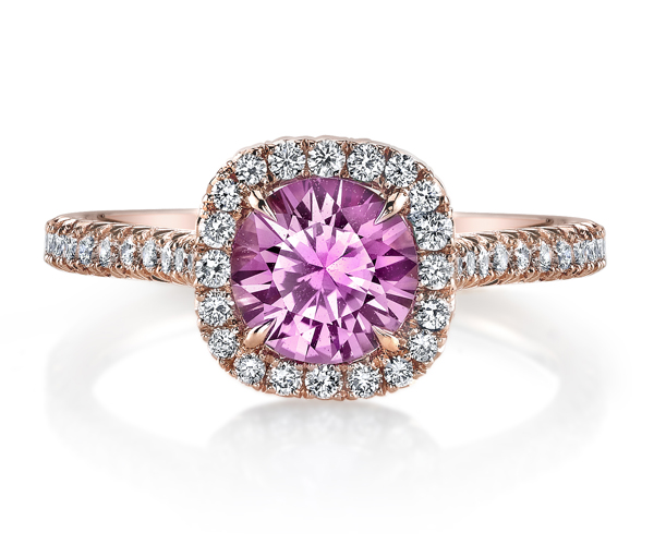 Pink Sapphire Engagement Ring by Omi Prive