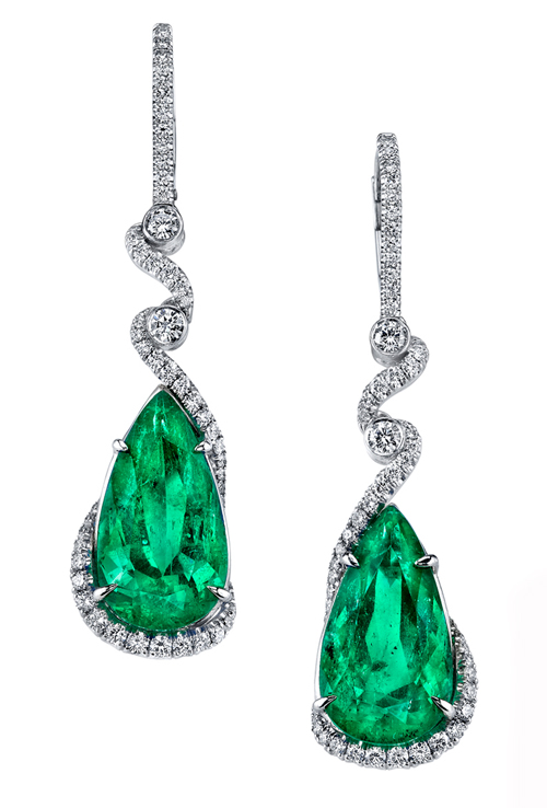 Colombian emerald earrings by Omi Privé