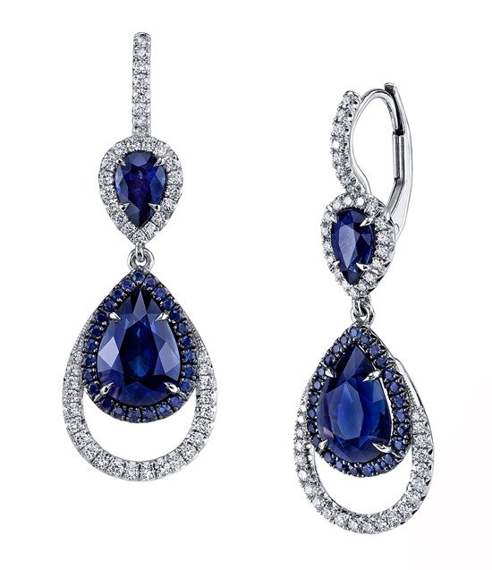 Sapphire and diamond earrings by Omi Privé