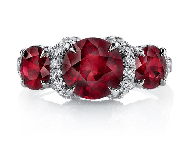 Omi Privé ruby and diamond ring