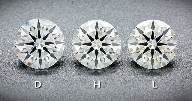 One Carat AGS Certified Ideal Cut Diamonds – Face Up Color