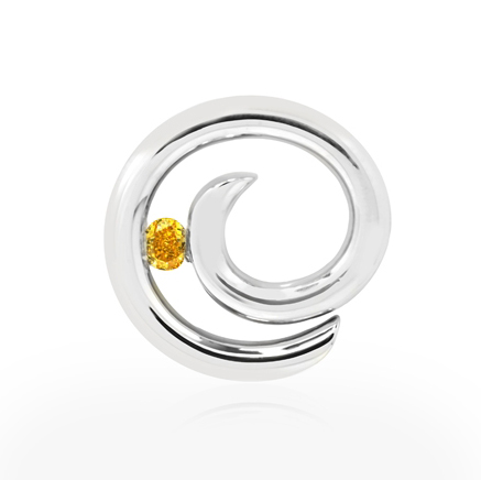 Vivid Orange Yellow Diamond Pendant Shared by gregchang35