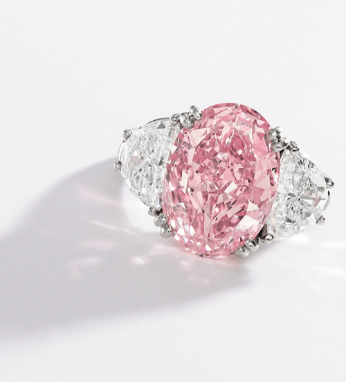Fancy Intense Pink  Diamond Ring, Oscar Heyman & Brothers