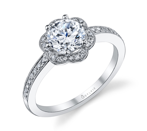 JCK 2013 Platinum Innovation Award Winner Sylvie Collection engagement ring