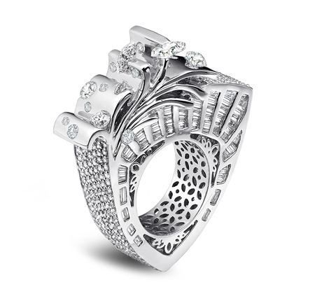 JCK 2013 Platinum Innovation Award Winner Uni-Design Diamond Ring