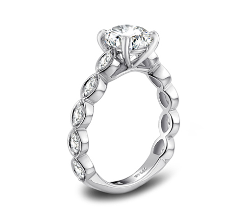 JCK 2013 Platinum Innovation Award Winner Vatche engagement ring