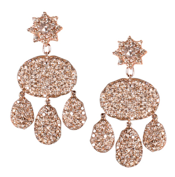 Parulina Arabian Nights Collection interchangeable pink tourmaline diamond earrings, back