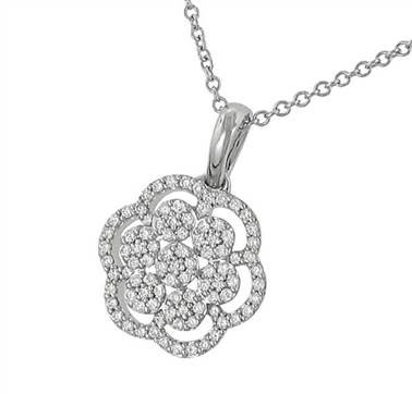 "Zeghani ZP434 ""Nature Lover Collection"" Pave Diamond Flower Pendant at Solomon Brothers"