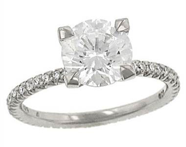 "Michael B MB1-40-106-00 Michael B ""Petite Princess"" Pave Diamond Eternity Style Engagement Ring at Solomon Brothers"