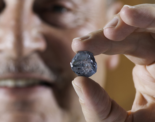 29.6-carat blue diamond recovered by Petra Diamonds