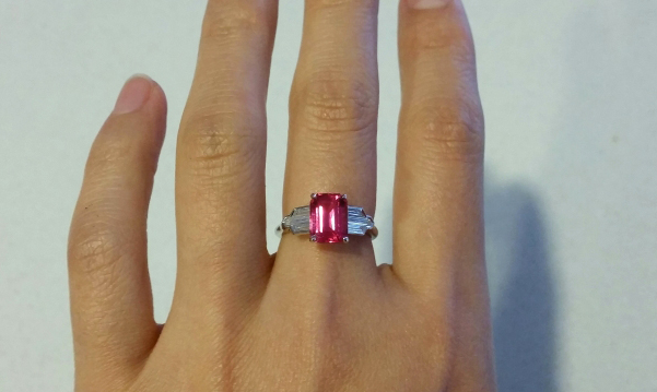 Art Deco-Style Pink Spinel and Diamond Ring - image by Lovinggems