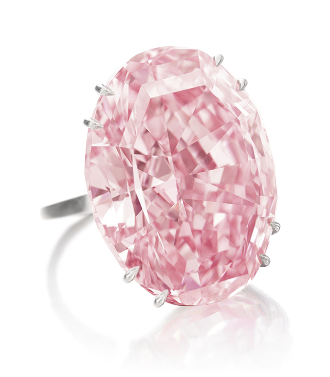 The Pink Star • 59.6-carat diamond • Sotheby's Geneva